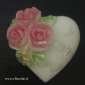 Silikoninė muilo forma ''I love you''