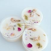 1 vnt Polikarbonato arbatinis indelis (sojų vaško žvakė dega apie 6 val)