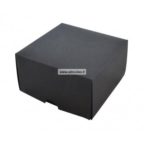 Dėžė dovanų pakavimui juoda 90x90x50