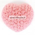 Silikoninė muilo forma ''Rožių širdis''