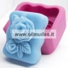 Silikoninė muilo forma - Rožė 4