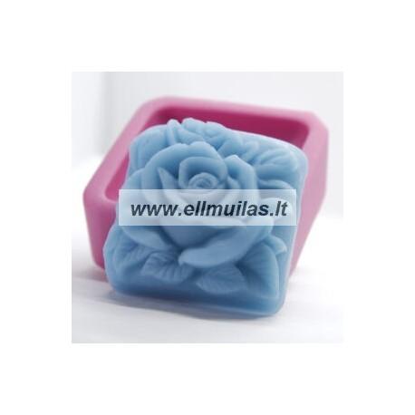 Silikoninė muilo forma - Rožė 3
