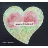 Silikoninė muilo forma ''Dvi rožytės''