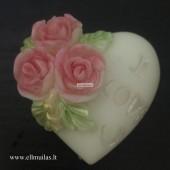 Silikoninė muilo forma ''I love you''