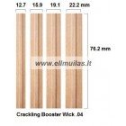 1/10/20 vnt. Medinis dagtis su laikikliu Booster wick 0.4 15.9x76.2mm