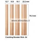 1/10/20 vnt. Medinis dagtis su laikikliu Booster wick 0.4 19.1x76.2mm
