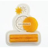 Silikoninė  forma - Apelsinas, cinamonas, žvaigždutė