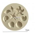 Silikoninė forma - Kriauklytės mini