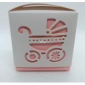 Dėžė rožinės spalvos 60x60x60
