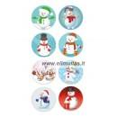 Kalėdiniai lipdukai  8 vnt. Nr.5