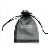 Juodas organzos maišelis 70x90