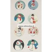Kalėdiniai lipdukai 8 vnt. Nr.6