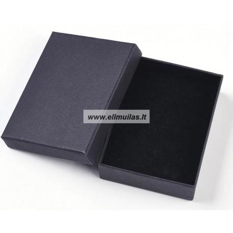 Dėžė dovanų pakavimui juoda 250x160x45