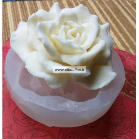 Silikoninė muilo/žvakių forma - Gėlė Nr.45